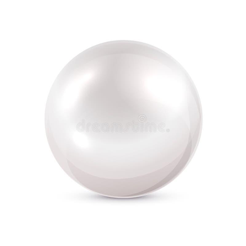 珍珠白色 库存例证