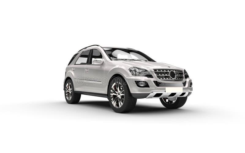 珍珠白色SUV 皇族释放例证