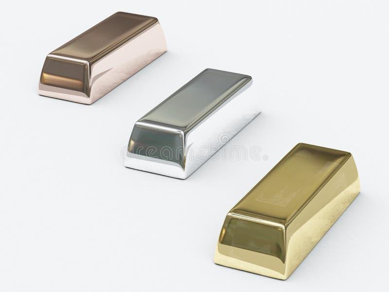 珍贵棒的金属 向量例证