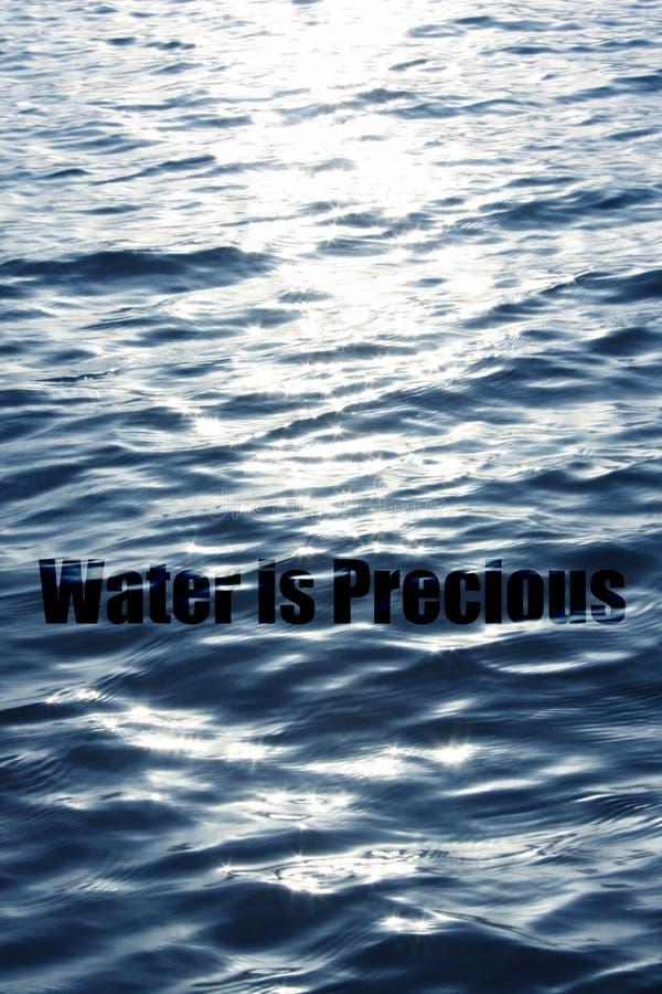 珍贵的水 免版税库存图片