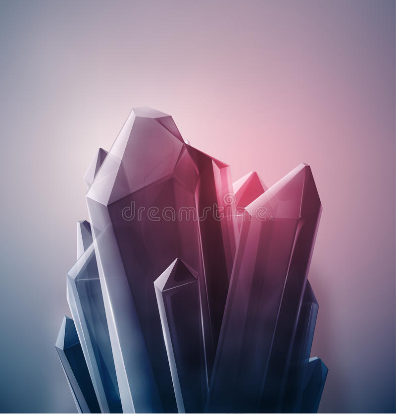 珍贵水晶 库存例证