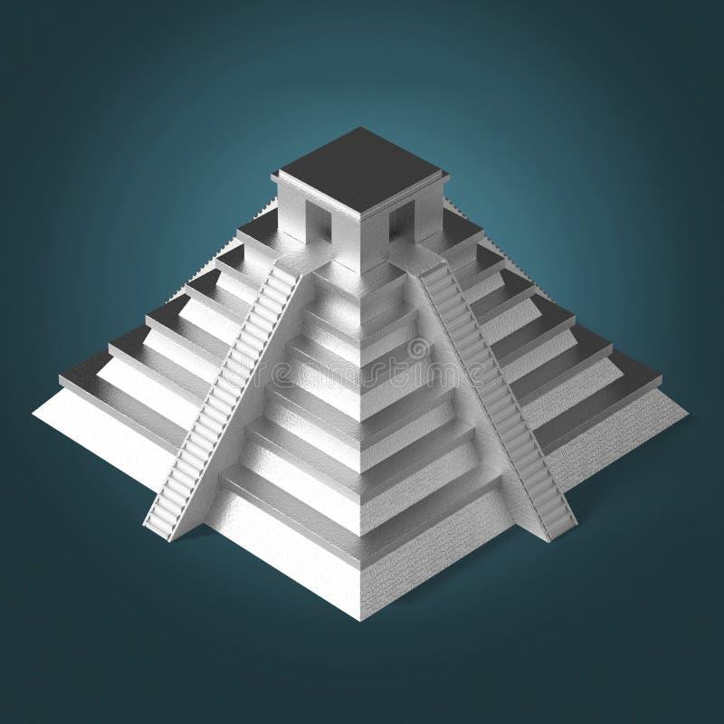 珍贵的金黄金属墨西哥玛雅阿兹台克金字塔,优质回报被隔绝 皇族释放例证