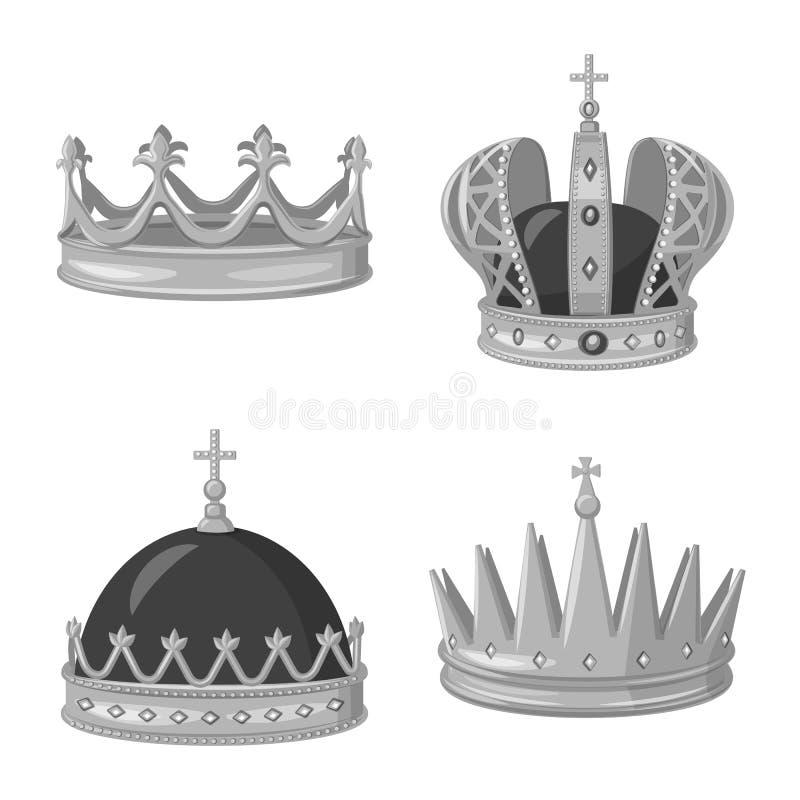 珠宝和vip标志被隔绝的对象  珠宝和贵族股票简名的汇集网的 皇族释放例证