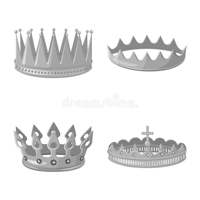珠宝和vip标志被隔绝的对象  设置珠宝和贵族储蓄传染媒介例证 向量例证