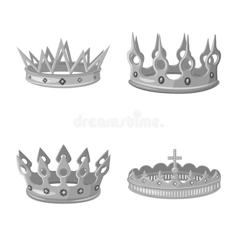 珠宝和vip象被隔绝的对象  设置珠宝和贵族储蓄传染媒介例证 库存例证