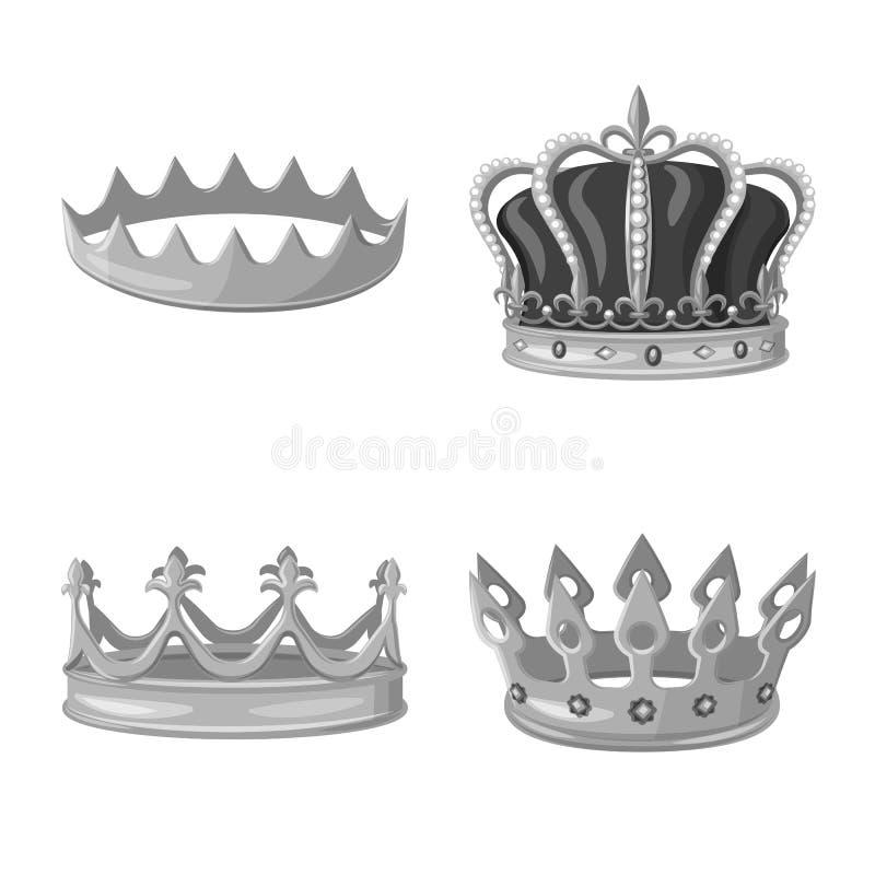 珠宝和vip象被隔绝的对象  设置珠宝和贵族股票简名网的 库存例证