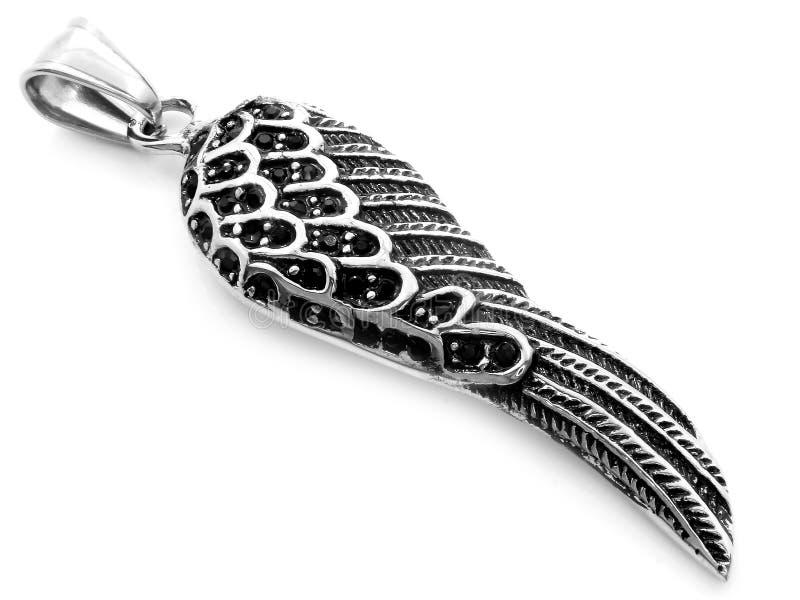 珠宝垂饰 天使翼 r 一种颜色 免版税库存照片