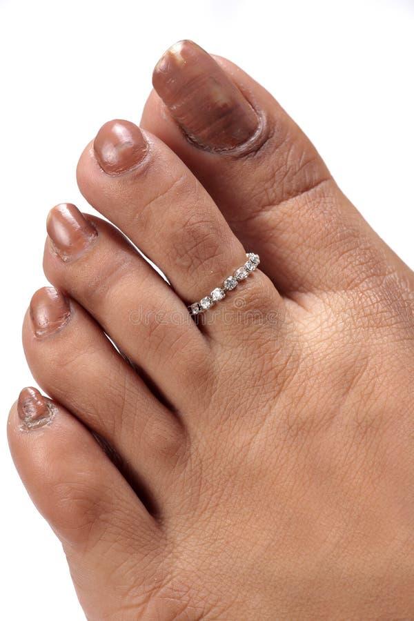 珠宝环形脚趾 库存照片