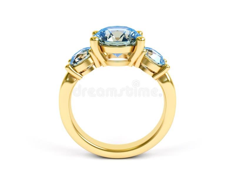珠宝环形 库存例证