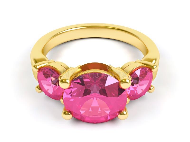 珠宝环形 皇族释放例证