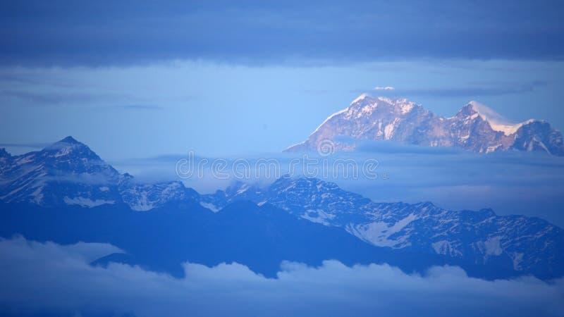 珠峰看法  库存照片