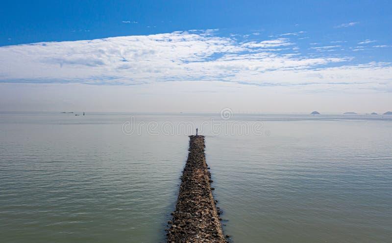 珠海戏院航拍 库存照片