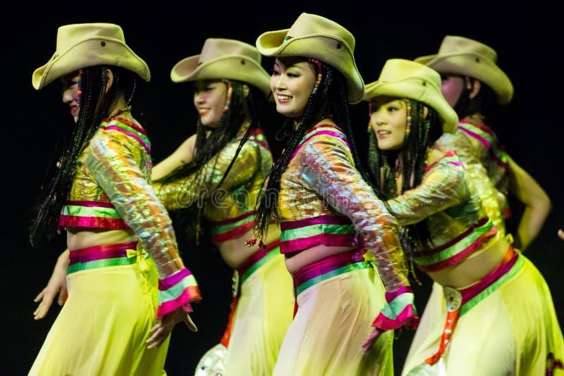 珠海韩Sheng艺术马戏团。 春节2013年。 免版税库存照片