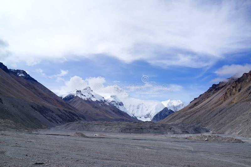 珠穆朗玛峰 免版税库存图片