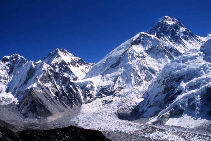 珠穆琅玛峰顶 免版税库存照片