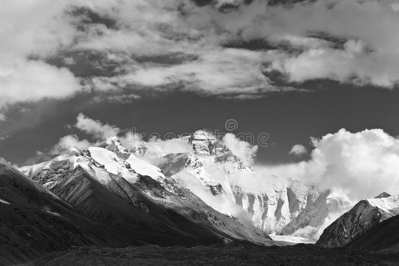 珠穆琅玛挂接西藏 免版税库存图片