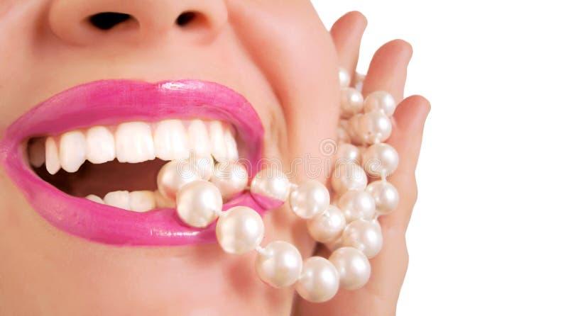 珠色白色 库存照片