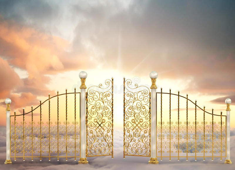 珠色门的横向 免版税库存图片