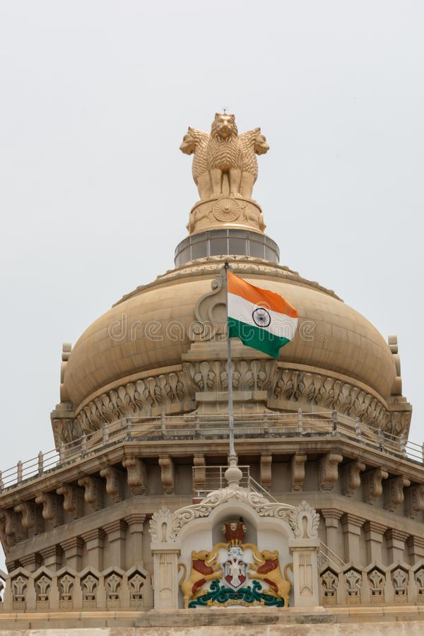 班加罗尔,印度,2019年6月4日:Ravindra Kalakshetra大厦,是一个文化中心在班加罗尔 免版税库存图片