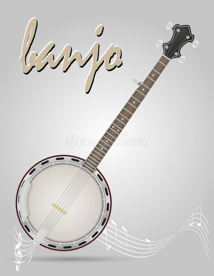 班卓琵琶乐器储蓄传染媒介例证 皇族释放例证