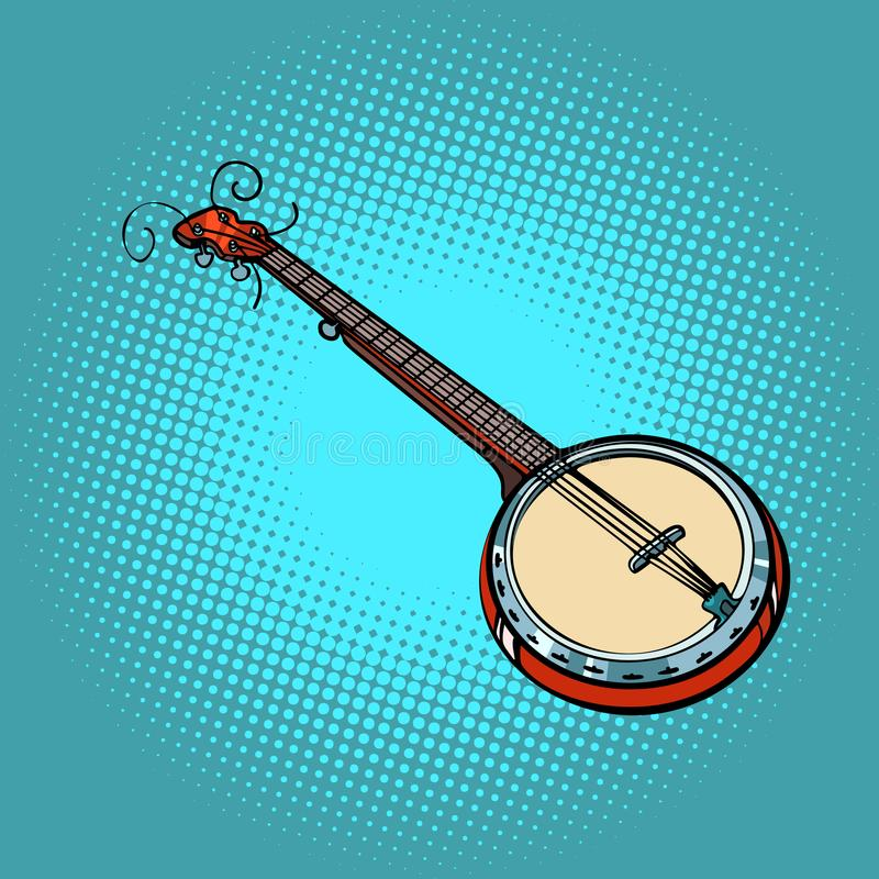班卓琵琶乐器 皇族释放例证