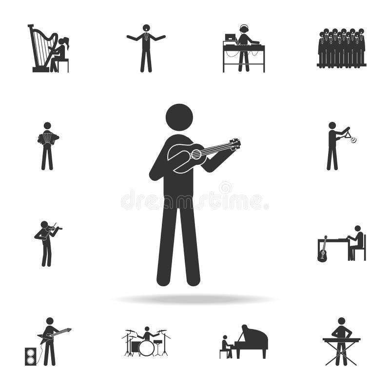 班卓琵琶球员象 详细的套音乐象 优质质量图形设计 其中一个网站的汇集象;网desi 向量例证