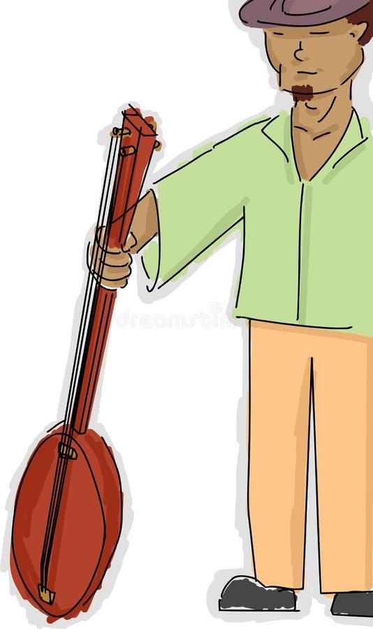 班卓琵琶球员 向量例证