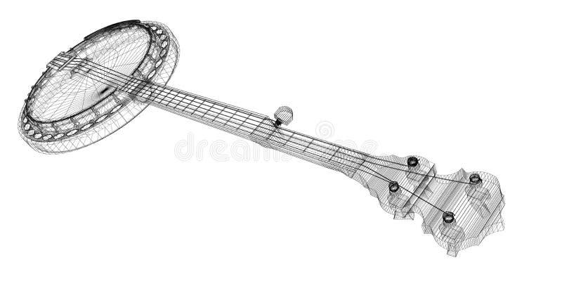 班卓琵琶- 5串 皇族释放例证