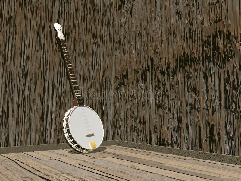 班卓琵琶- 3D回报 库存例证