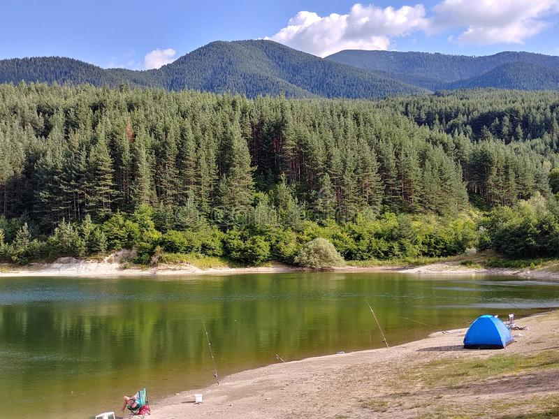 班斯科- Pirin - Krinets湖 免版税库存图片