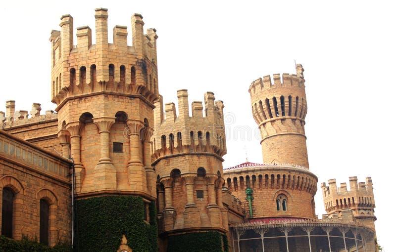 班格洛宫殿视图的石城垛 库存照片