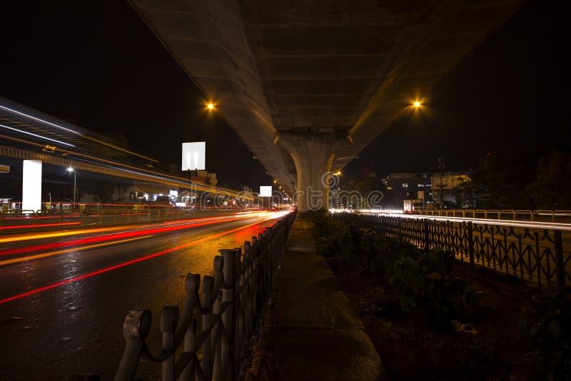班格洛城市交通 免版税库存照片