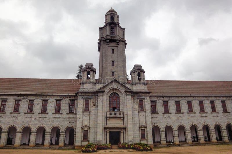 班格洛,印度2010年3月23日:科学印地安学院,班格洛 免版税库存图片