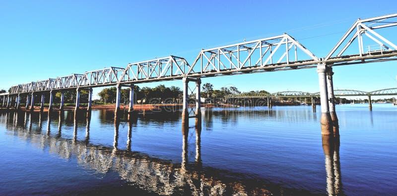班达伯格铁路桥 免版税库存图片