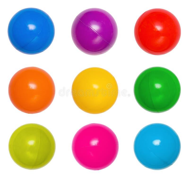 球上色许多塑料 免版税库存照片