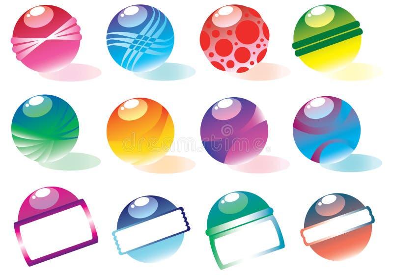 球五颜六色的向量 库存图片