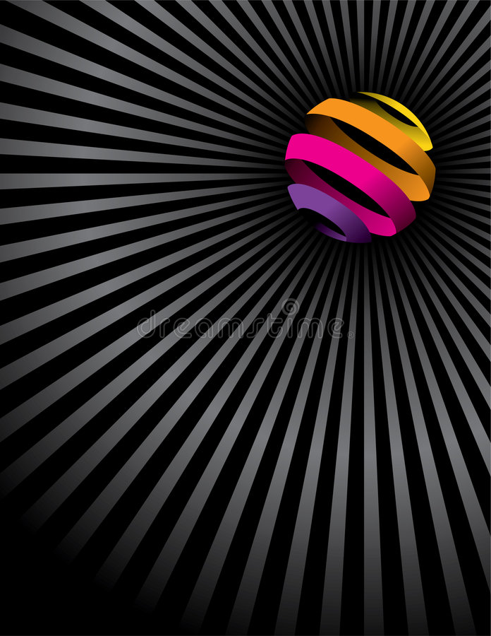 球五颜六色的线路 库存例证