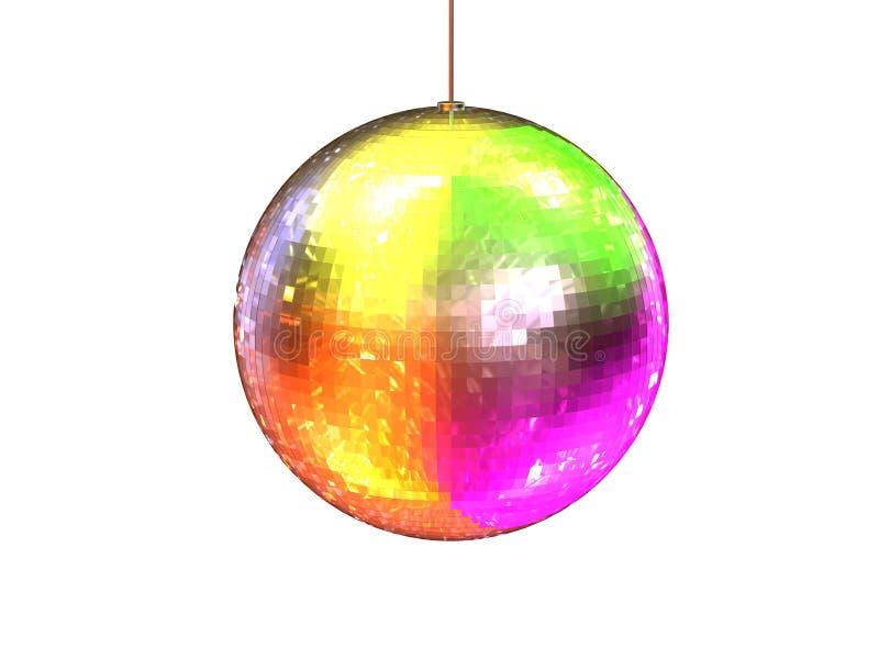 球五颜六色的迪斯科 库存例证