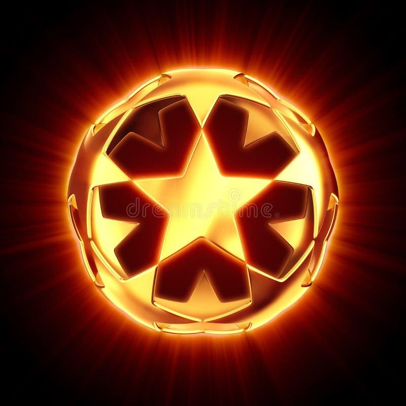 球亮光星形 向量例证