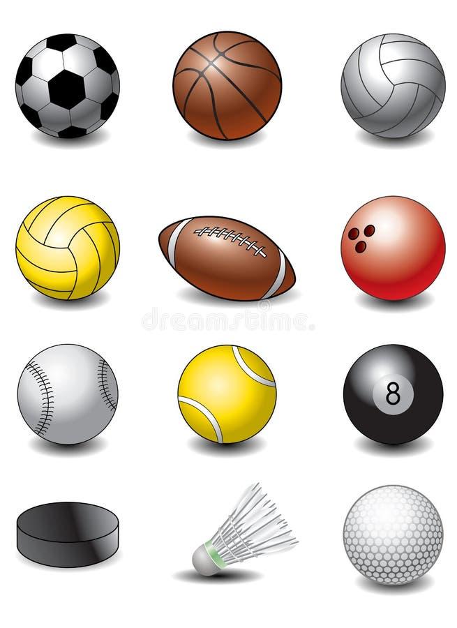 球体育运动 向量例证