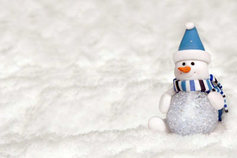 球做雪人 库存照片