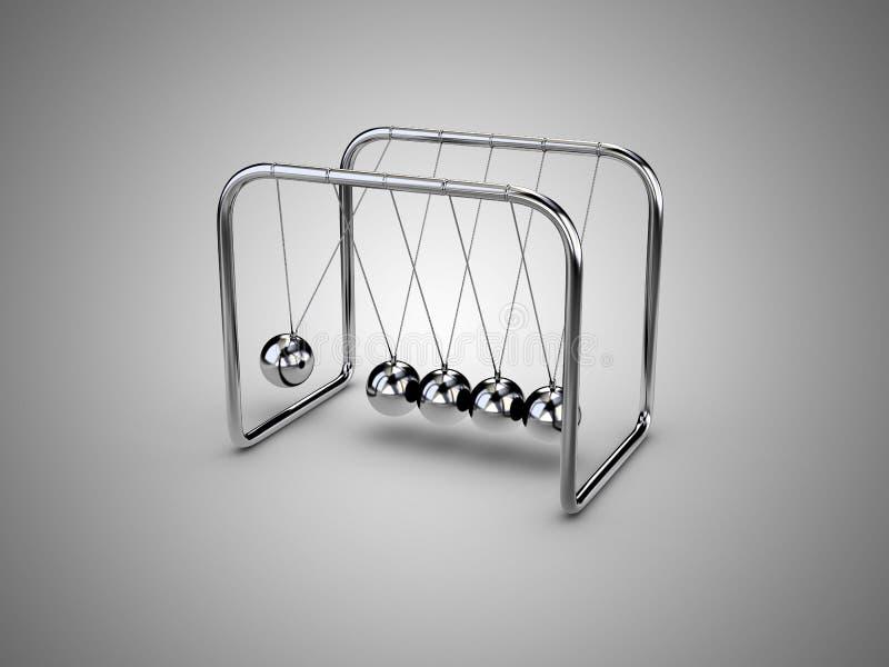 球冲突牛顿摆锤 向量例证