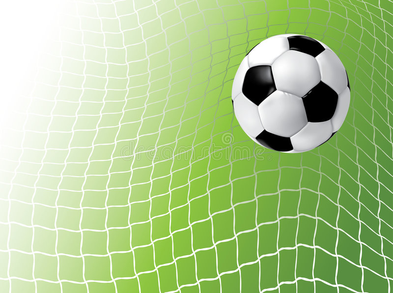 球净足球 库存例证
