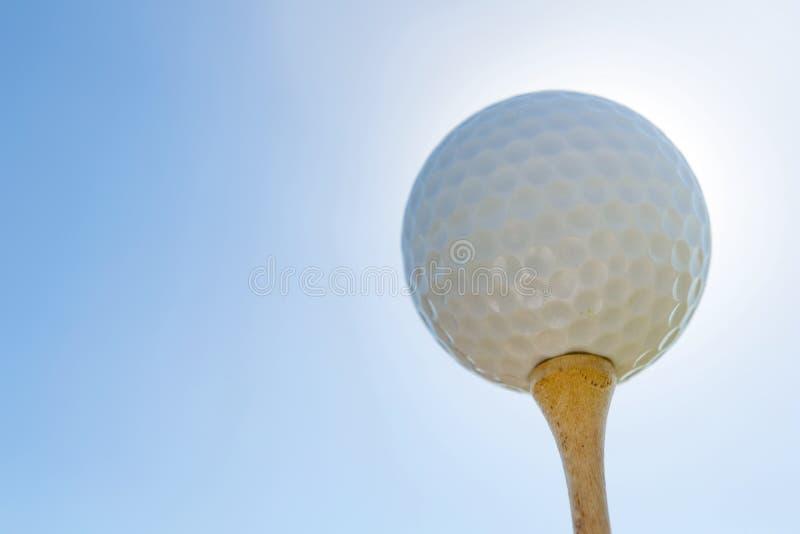 球剪报高尔夫球图象查出的路径发球区域 关闭 库存图片