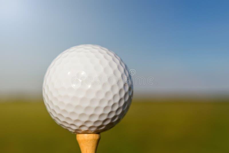 球剪报高尔夫球图象查出的路径发球区域 关闭 免版税库存图片
