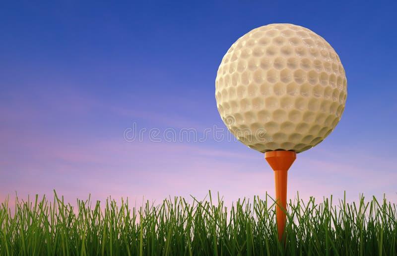 球剪报高尔夫球图象查出的路径发球区域 免版税图库摄影