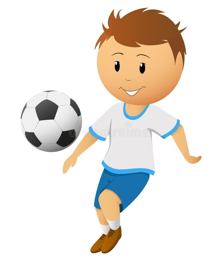 球动画片足球运动员作用球员足球 库存例证