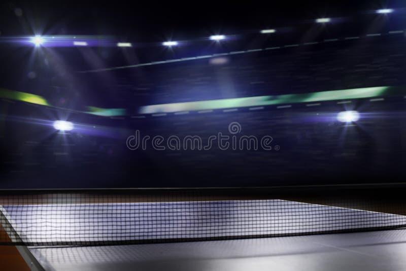 球台网球背景3d回报 免版税库存图片