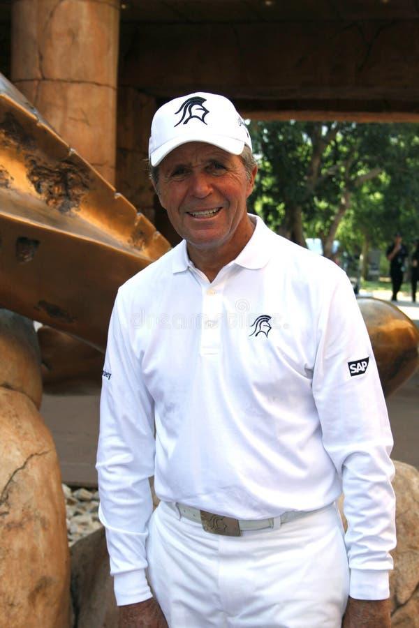 球员加利前高尔夫球运动员 库存照片