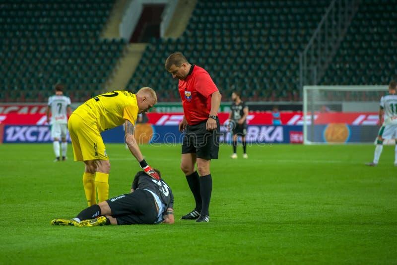 球员受伤 免版税库存图片